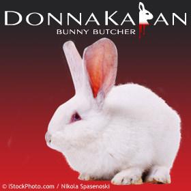 Donna Karan bunny butcher