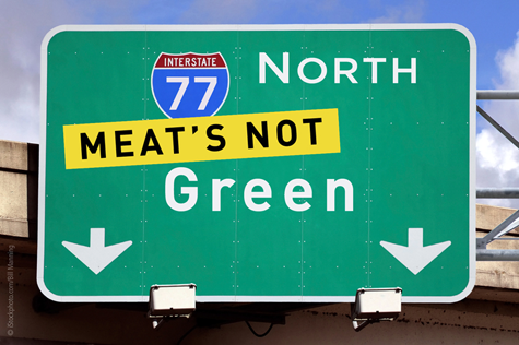 meats not green PETA Wants the Greening of Green to Include Changing Citys Name to Meats Not Green for Earth Day