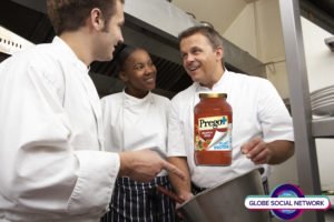 PREGOSAUCE 300x200 Chef Instructing Trainees In Restaurant Kitchen